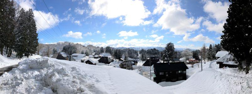 雪の田麦集落(1月6日)